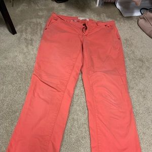 Pilcro and letterpress Anthropologie crop pants 30